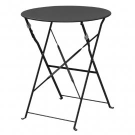 Inklapbare tafel zwart staal artikel BHgh558