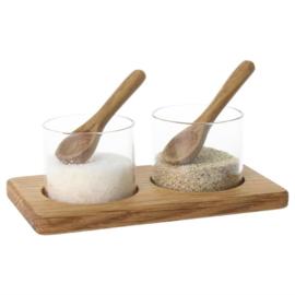 Olympia peper en zout potjes en houder