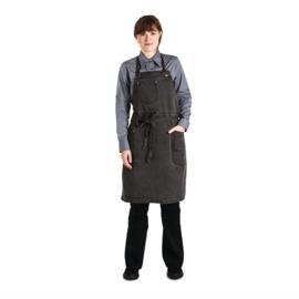 Chef Works Dorset kort schort donkergrijs