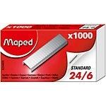 Nietjes Maped standaard zilver 24/6 1.000 Stuks per 10 doosjes