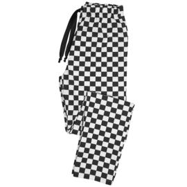 Essential broek met elastische taille zwart/wit blok
