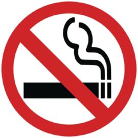 Vogue verboden te roken sticker