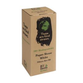 Fiesta Green composteerbare papieren rietjes wit
