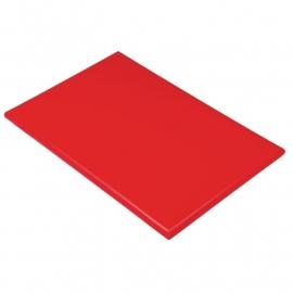 Snijplank rood 25 mm dik