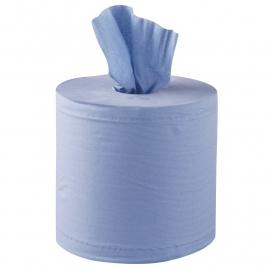 Jantex centrefeed handdoekrollen blauw 6 rollen