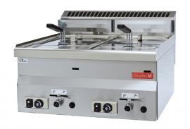 Gastro M 600 gas friteuse 2x 8ltr 60/60 FRG
