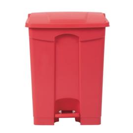 Jantex afvalemmer rood 65ltr