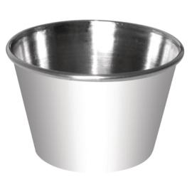 RVS sausschaaltjes 34cl per 12 stuks