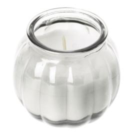 kaarsen in pompoenglas helder