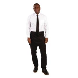 Whites korte sloof zwart met zakken