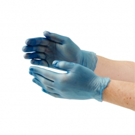 Vinyl handschoenen gepoederd maat S artikel BHcb254-s