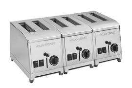Toaster 6 sleuven RVS