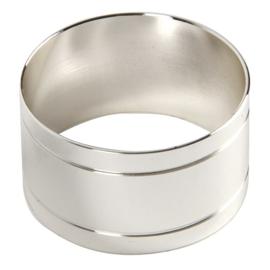 servetringen Olympia zilverkleurig