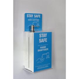 Wandgemonteerde dispenser voor handreiniger 5L