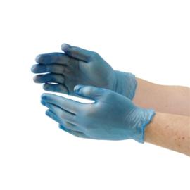 Vogue vinyl handschoenen blauw poedervrij