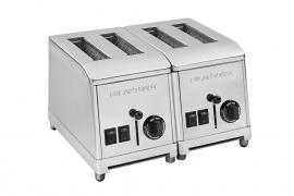 Toaster 4 sleuven RVS