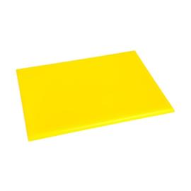 Hygiplas HDPE snijplank geel klein - 12(h) x 300(b) x 225(d)mm
