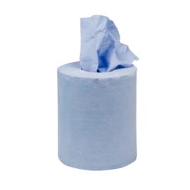 Jantex mini centrefeed handdoekrollen blauw 12 rollen