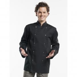 Chaud Devant Hilton Chef jacket ZWART lange mouw