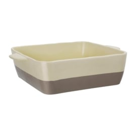 braadslede van keramiek crème en taupe GN 1/2