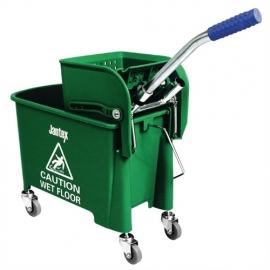 Mopemmer kleurcode met wringer groen 20 liter. artikel BHgk689