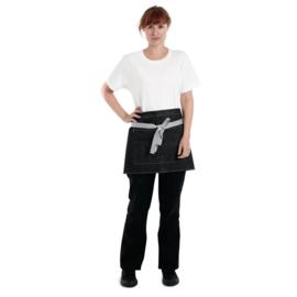 Whites Southside Denim bistroschort zwart 40x76cm