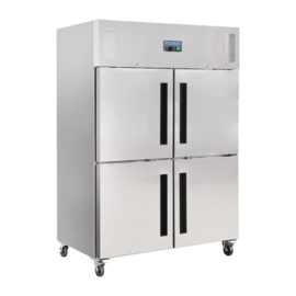 Polar Gastro 2-deurs koeling met gedeelde deuren 1200ltr