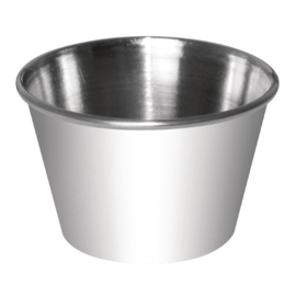 RVS sausschaaltjes 23cl per 12 stuks