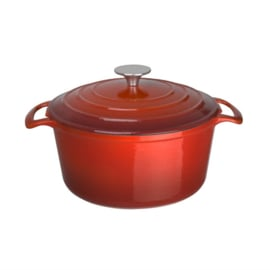 Vogue ronde braadpan 4ltr rood