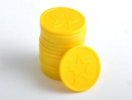 Consumptiemunt ster geel