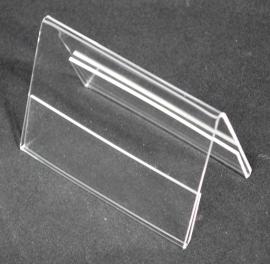 Acryl tafelstandaard dubbelgevouwen A6