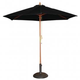 Bolero ronde zwarte parasol 2,5 meter