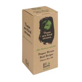 Fiesta Green composteerbare papieren rietjes rood-wit gestreept
