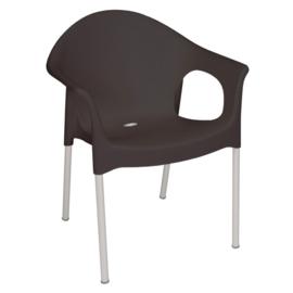 Bolero stapelbare zwarte stoelen met armleuning