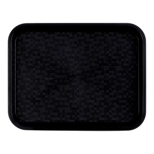 Roltex Dienblad poly - zwart - 34,5x26,5 cm