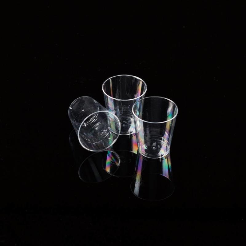 Plastic shotglaasjes 2cl 2000 stuks