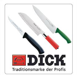 Dick messen, koksmessen, groentemessen, fileermessen voor de horeca
