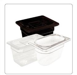 Polycarbonaat voedsel- en gastronormbakken voor de horeca