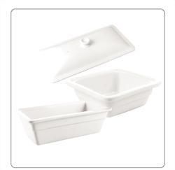 Porselein voedsel- en gastronormbakken voor de horeca