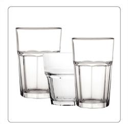 Paneelglazen, halve paneelglazen, Tumbler glazen voor de horeca