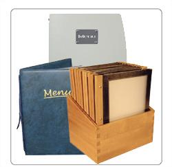 menumappen, houten menumappen voor de horeca