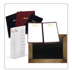 menupresentatie, menustandaards, menumappen voor de horeca