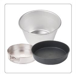 Taartvormen, mousseringen, bakvormen en puddingvormen voor de horeca