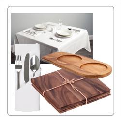 horeca tafelkleden, presenteerbladen voor de horeca
