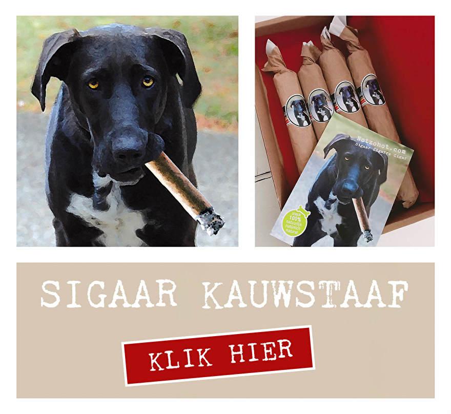 Is je hond jarig? Of gewoon lief? Knabbelstok kauwstaaf honden snacks voor de hond. 100% natuurlijk, vetarm. Verpakt als sigaar. Grappig kadootje voor de hond.