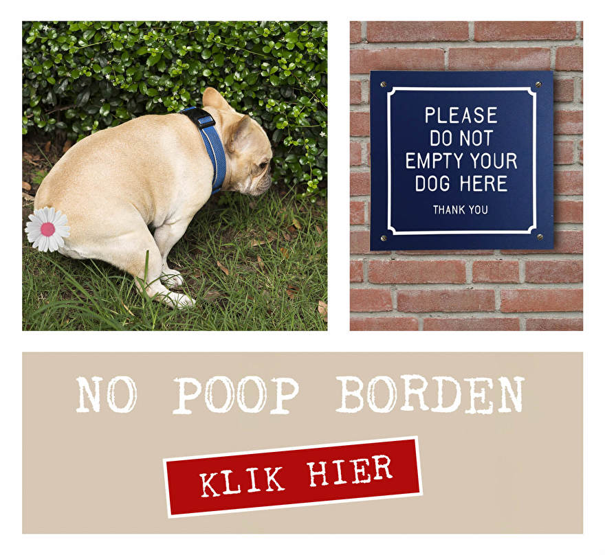 Verboden te poepen verbod bord. Honden poep bord. Please do not empty your dog here sign. Aluminium verbod bord voor outdoor.