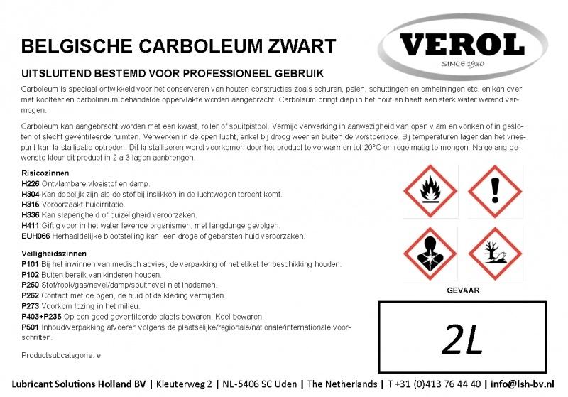 Verol carboleum zwart