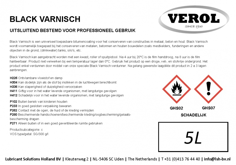 Verol black varnish