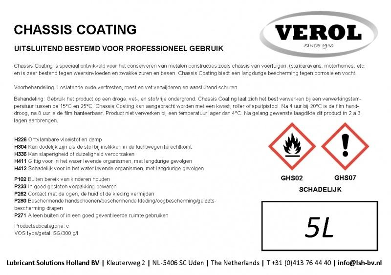 Verol chassis coating zwart