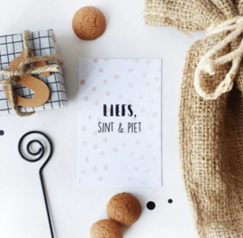 Mini kaartje: Liefs Sint & Piet